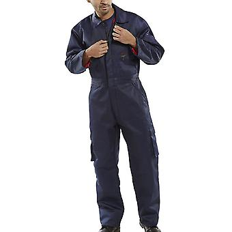 Click Quilted Polycotton Boilersuit (Multi Pockets) Navy - Qbs
