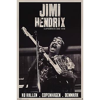 Jimi Hendrix - Copenhagen Poster Poster Print