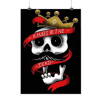 Matte or Glossy Poster with King Of Dead Crown Skull | Wellcoda | *d1990