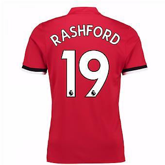 2017-2018 Man United Home Shirt (Rashford 19)