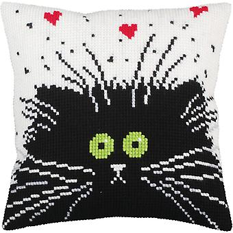 Collection D'art Stamped Needlepoint Cushion Kit 40x40cm-That's Love CD5256