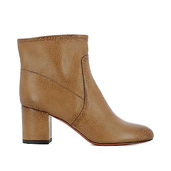 Santoni women's WTVX56693HI2SPPPC30 brown leather ankle boots
