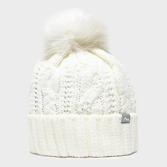 White Peter Storm Women's Daisy Cable Knit Hat