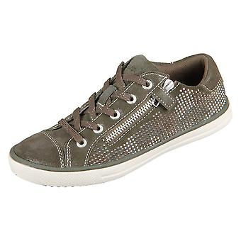 Lurchi skinnende mørk oliven ruskind 331362426 kvinder sko