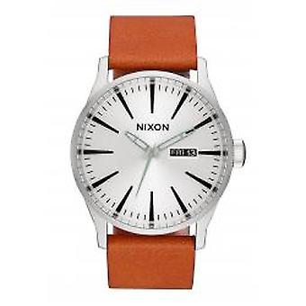 Nixon The Sentry Leather Silver / Tan (A1052853)