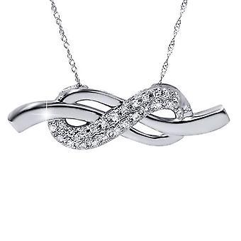 1/3ct Diamond Infinity Symbol Pendant 14K White Gold