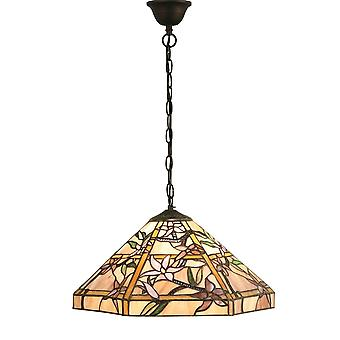 Interiors 1900 64020 Clematis Single Light Tiffany Glass Ceiling Penda