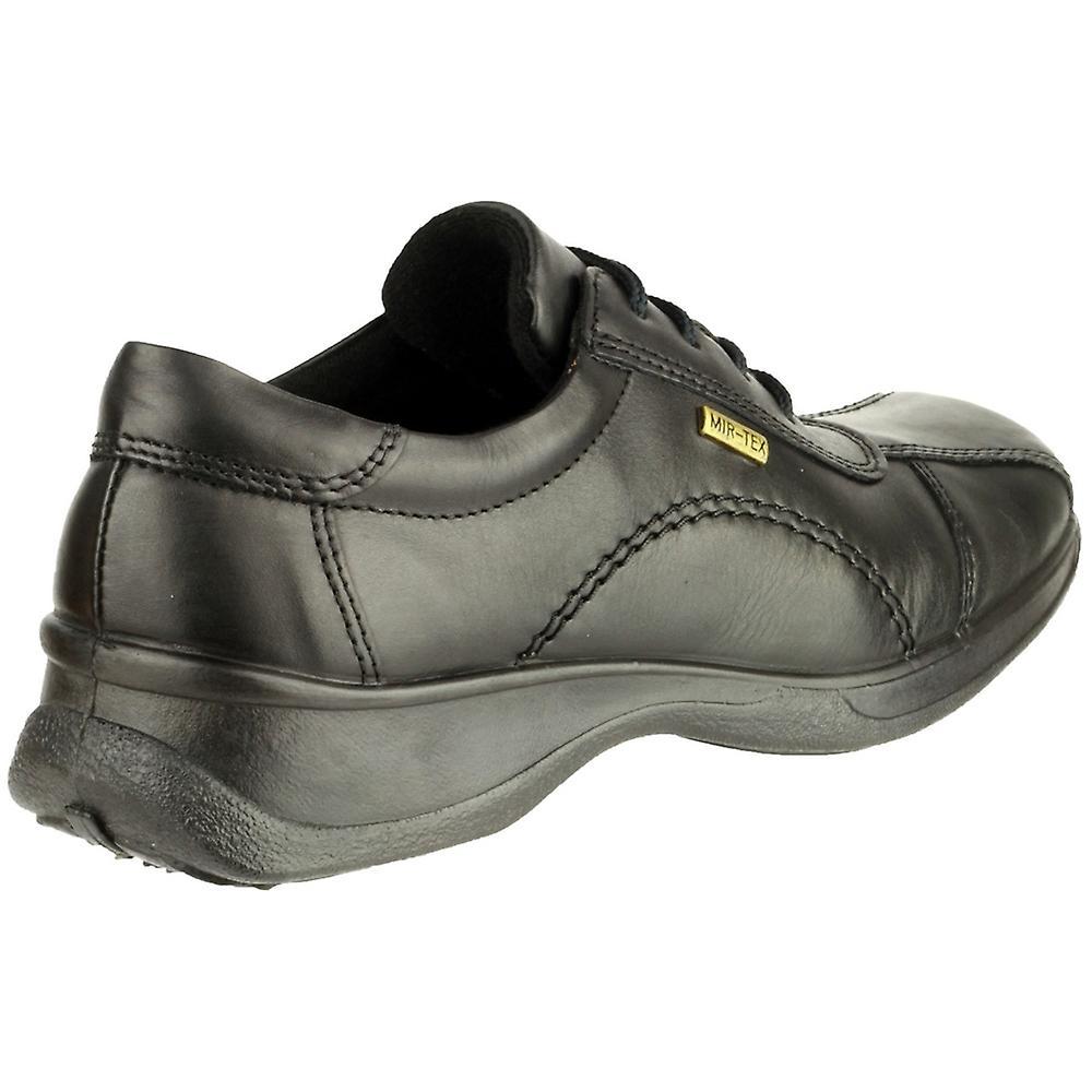 Icomb Shoe Casual Waterproof Oxford Ladies Black Leather Cotswold vwq1Y5