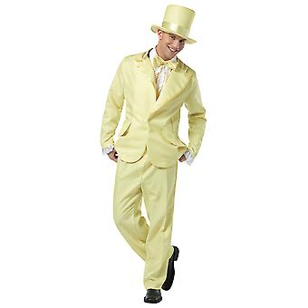 70s Funky Tux Yellow Tuxedo Prom Boy 60s Leisure Suit Mens Costume