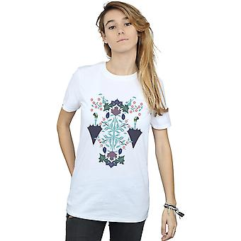 Disney Women's Mary Poppins Floral Collage Boyfriend Fit T-Shirt