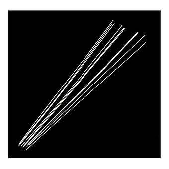 Packet 20 x Silver Steel Beading Needles 0.7 x 75mm Y05475