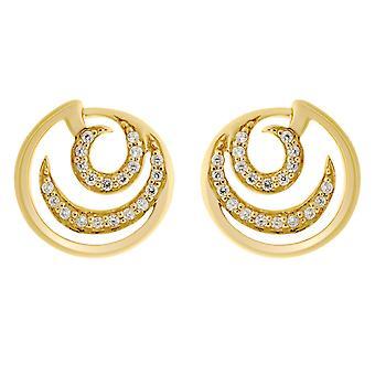 Orphelia Silver 925 Round Gold Earring   ZO-7084/2