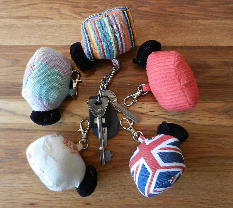 Union Jack Sheep Bag or Key Charm by Monica Richards