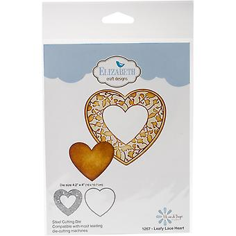 Elizabeth Craft Metal Die-Leafy Lace Heart, 4.2