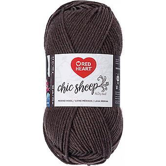 Red Heart Chic Sheep Yarn-Leather