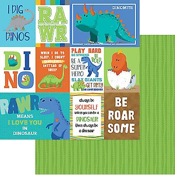 Jurassic Double-Sided Cardstock 12