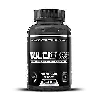 XCORE - Multicore 90 tabs - Improves Energy Levels and Muscle Power Growth Supplement - Anaboli with Creatine - 30 Servings
