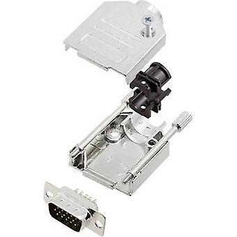 bande de broches SUB-D DTZK09-HDP15-K encitech la valeur 180 ° nombre de broches: 15 soudure seau 1 jeu