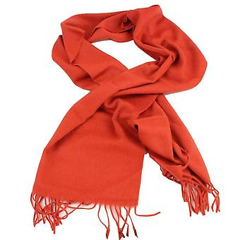 Bassin and Brown Dexter Plain Cashmere Scarf - Orange