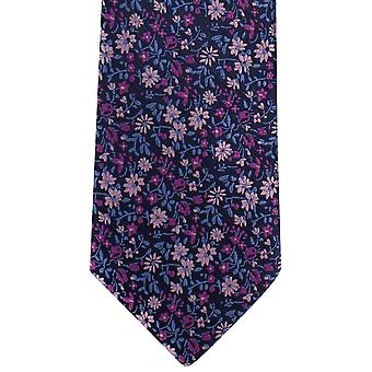 Michelsons of London Mini Floral Polyester Tie - Pink