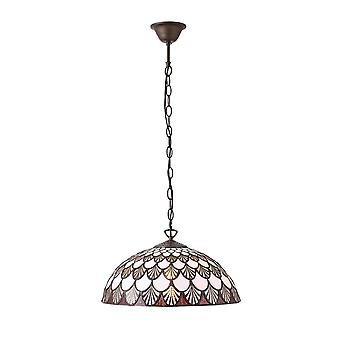 Interiors 1900 Missori Single Light Ceiling Pendant In Bronze Fi
