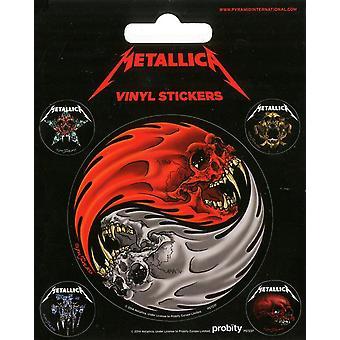 Pack Of 5 Metallica Vinyl Peel Off Decals / Stickers