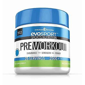 EvoSport Pre-Workout Powder - Blue Raspberry - Preworkout Powder - Evolution Slimming