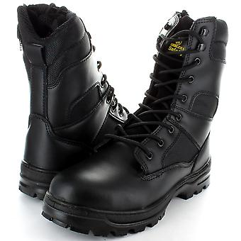 Black Dual Density Zip Safety Boot