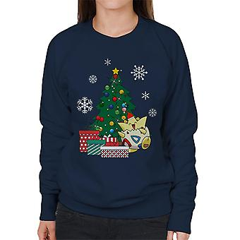Togepi Around The Christmas Tree Women's Sweatshirt