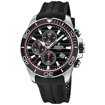Festina Tour Of Britain 2018 Chrono Black Rubber Strap F20370/6 Watch