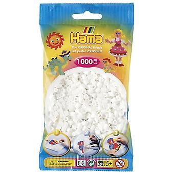 Hama Beads 1000 Bead Pack White