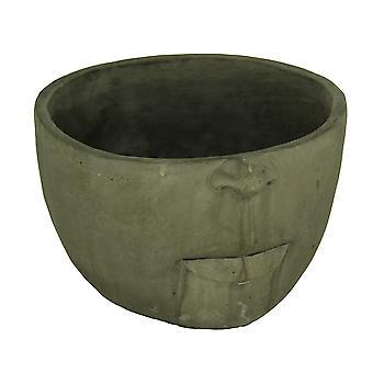 Закаленный темно-серой отделкой скульптурные цементных головы плантатора