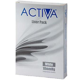 Activa Compression Tights Tights Liners White Small 10Mmhg 3