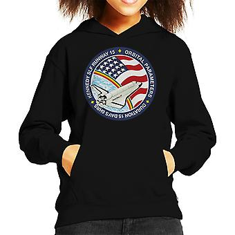 NASA STS 61B Space Shuttle Atlantis Mission Patch Kid's Hooded Sweatshirt