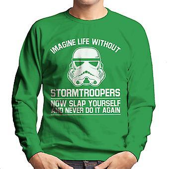 Stormtrooper original imaginar a vida sem camisola homens