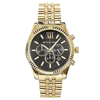 Michael Kors menns Lexington ur - MK8286 - svart/gull