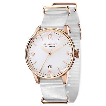 Spinnaker Capri Automatic Watch - White/Gold