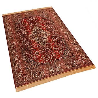 Red Persian Medallion Artsilk Faux Silk Effect Rugs 9099/12 140 x 200cm