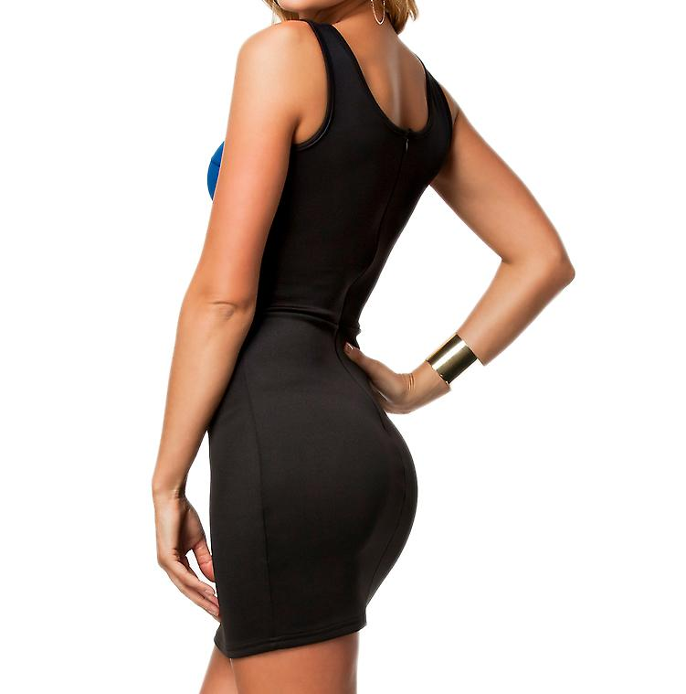 Waooh - Fashion - Short dress openwork Bimaterial