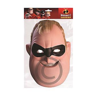 Senhor incrível cartão máscara