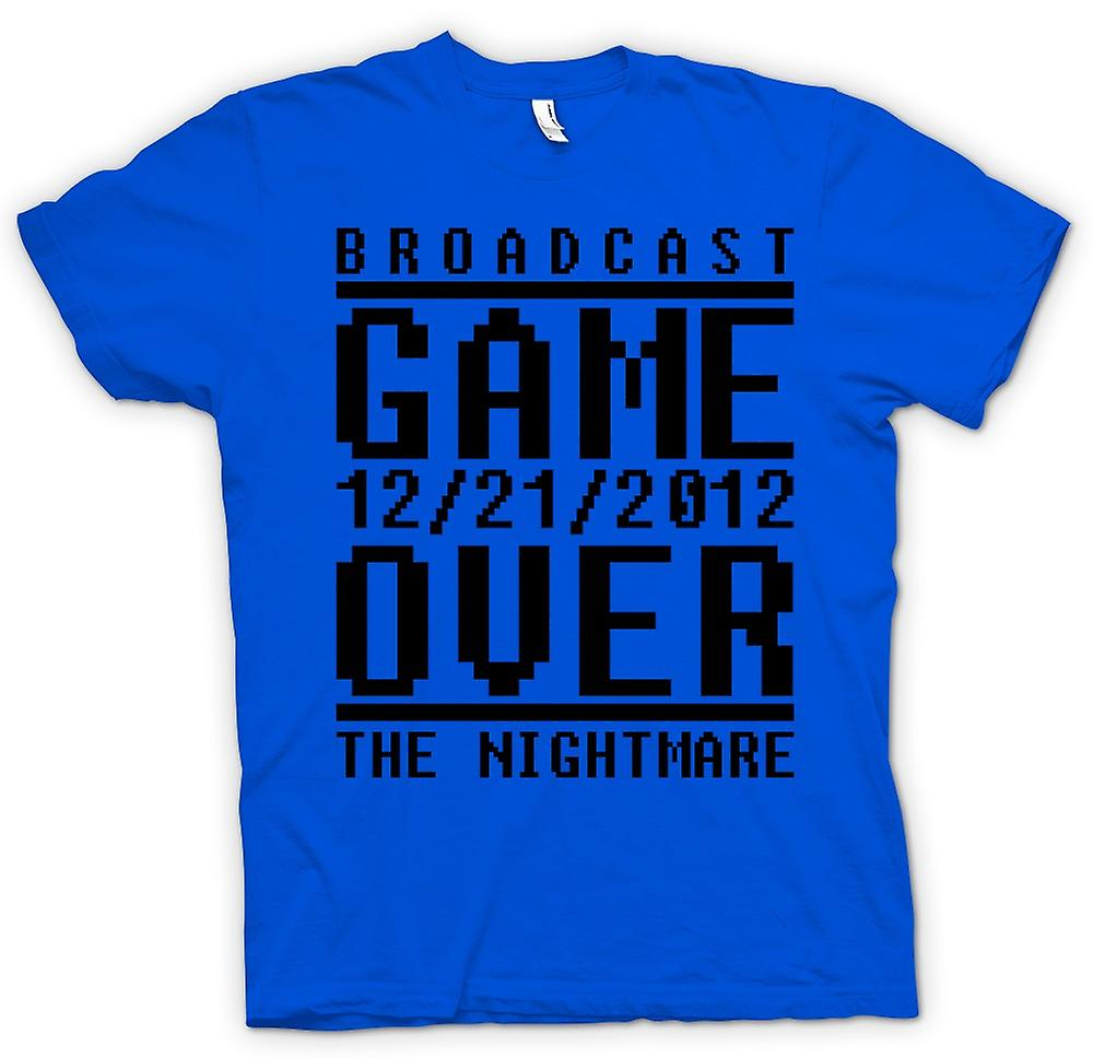 T-shirt des hommes - Game Over 2012 Nightmare - jours de l'Apocalypse Fin