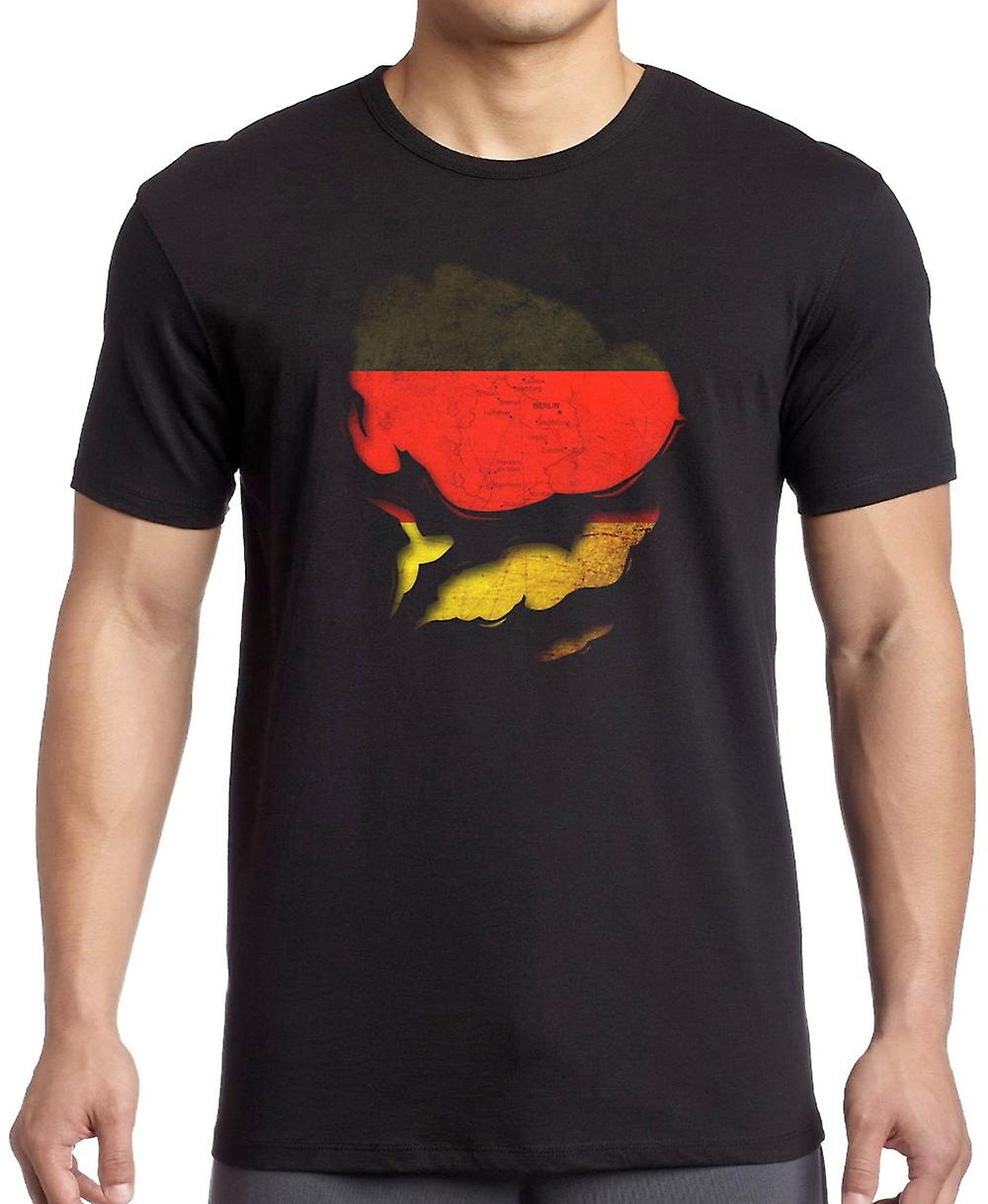 German Germany Ripped Effect Under Shirt T Shirt