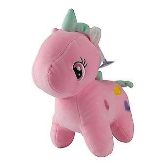 Unicorn with hearts, plush toys/stuffed animals-Pink