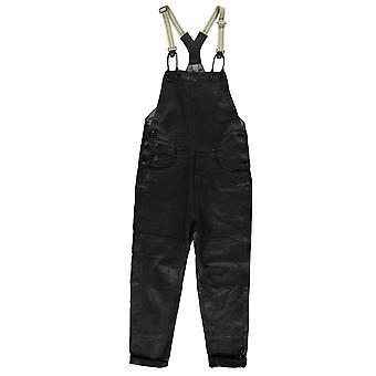 G Star Womens Type C Leather Salopette Jumpsuit