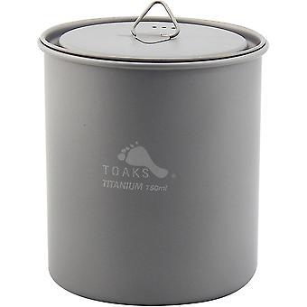 TOAKS Titanium 750ml Outdoor Camping Cook Pot without Handle POT-750-NH