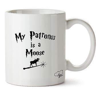 Hippowarehouse, мой Патронус является лось напечатаны Кубка керамическая кружка 10oz