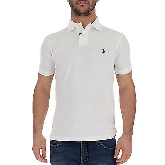 قميص بولو رالف لورين الأبيض القطن