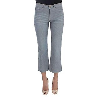 Cavalli Blue Cotton Slim Fit Denim Capri Cropped Jeans -- SIG3243141
