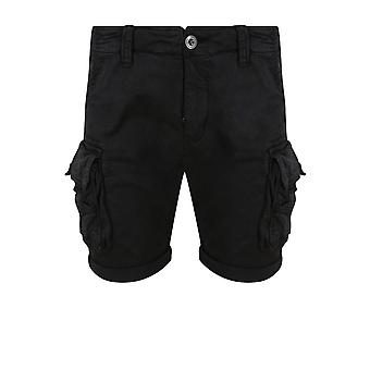 Alpha Industries besättningen Cargo Shorts | Svart