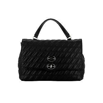 Zanellato Postina M Linea Zeta Black Leather Handbag